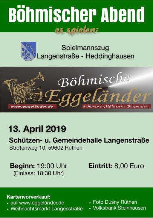 Böhmischer Abend @ Schützen - u. Gemeindehalle Langenstraße