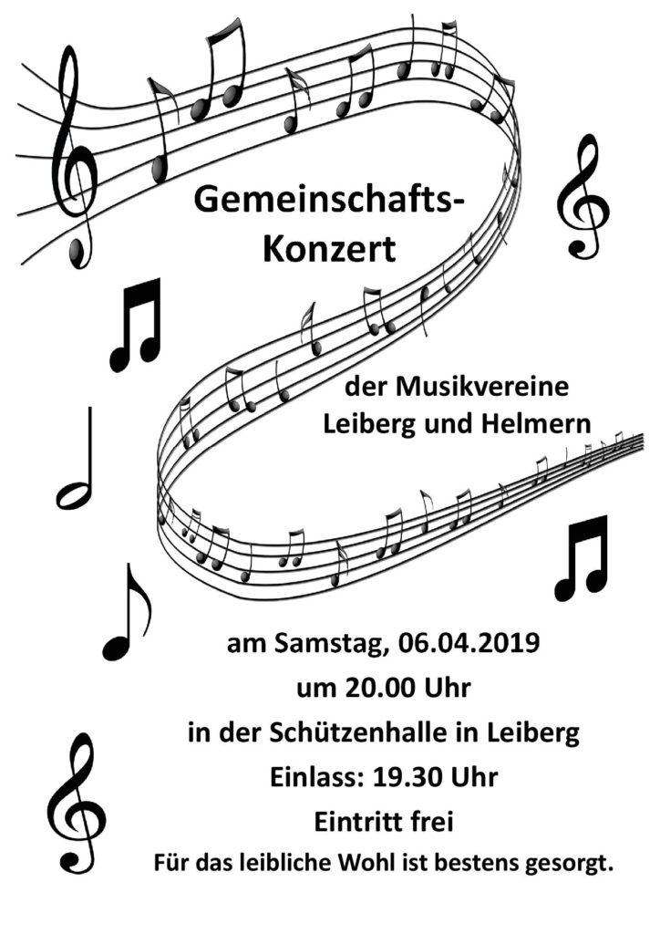 Gemeinschaftskonzert MV Leiberg und MV Helmern @ Schützenhalle Leiberg