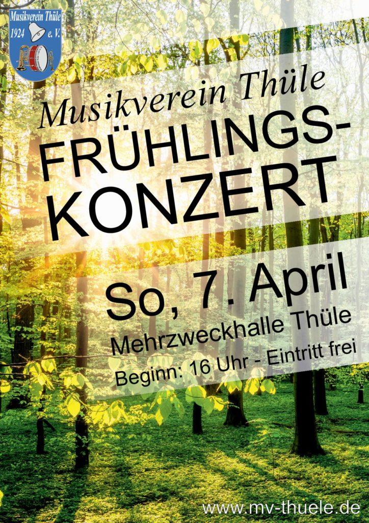 Frühlingskonzert mit dem Musikverein Thüle @ Mehrzweckhalle Thüle