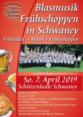 Blasmusik Frühschoppen @ Schützenhalle Schaney